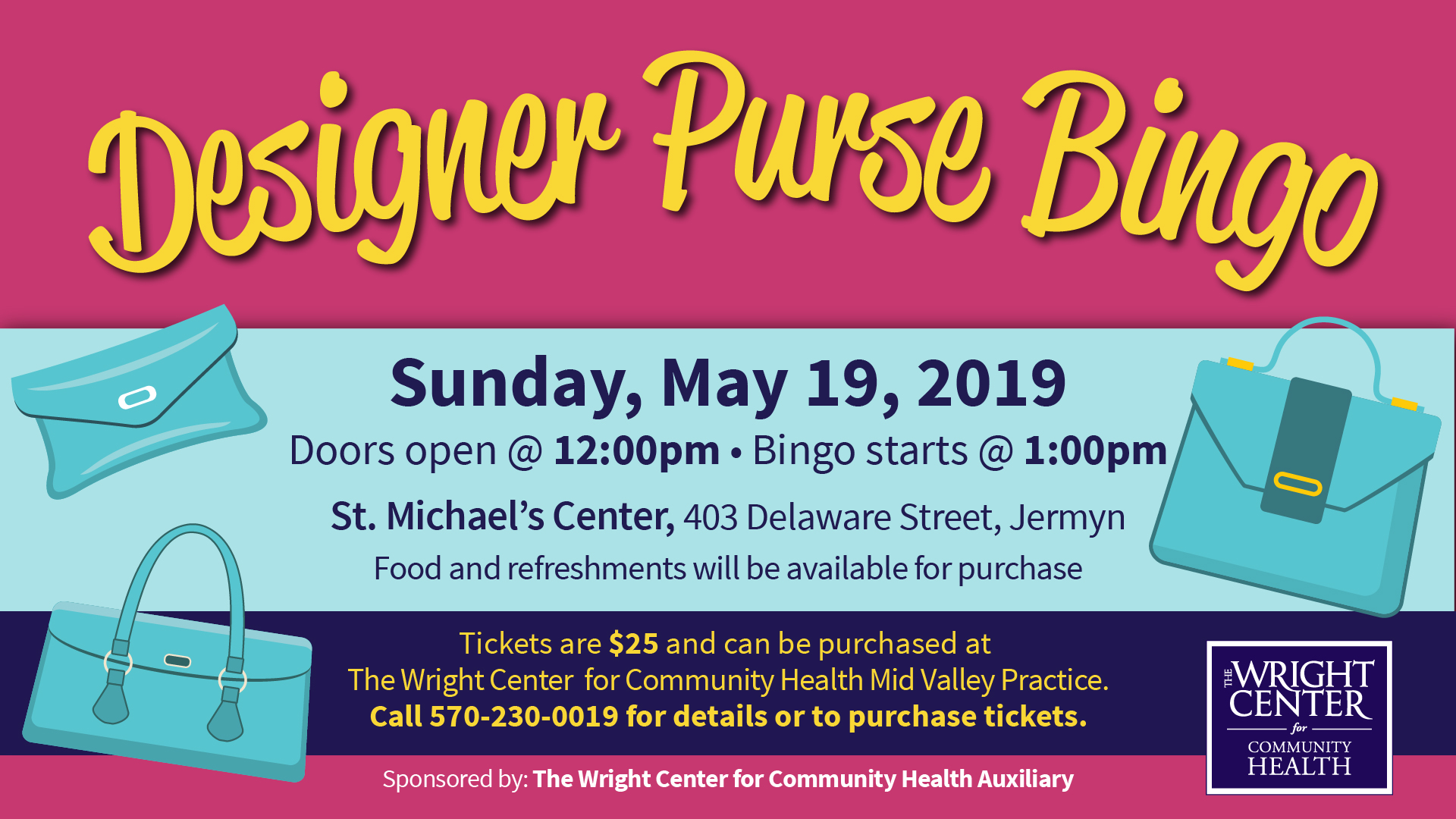2019 Purse Bingo Flyer