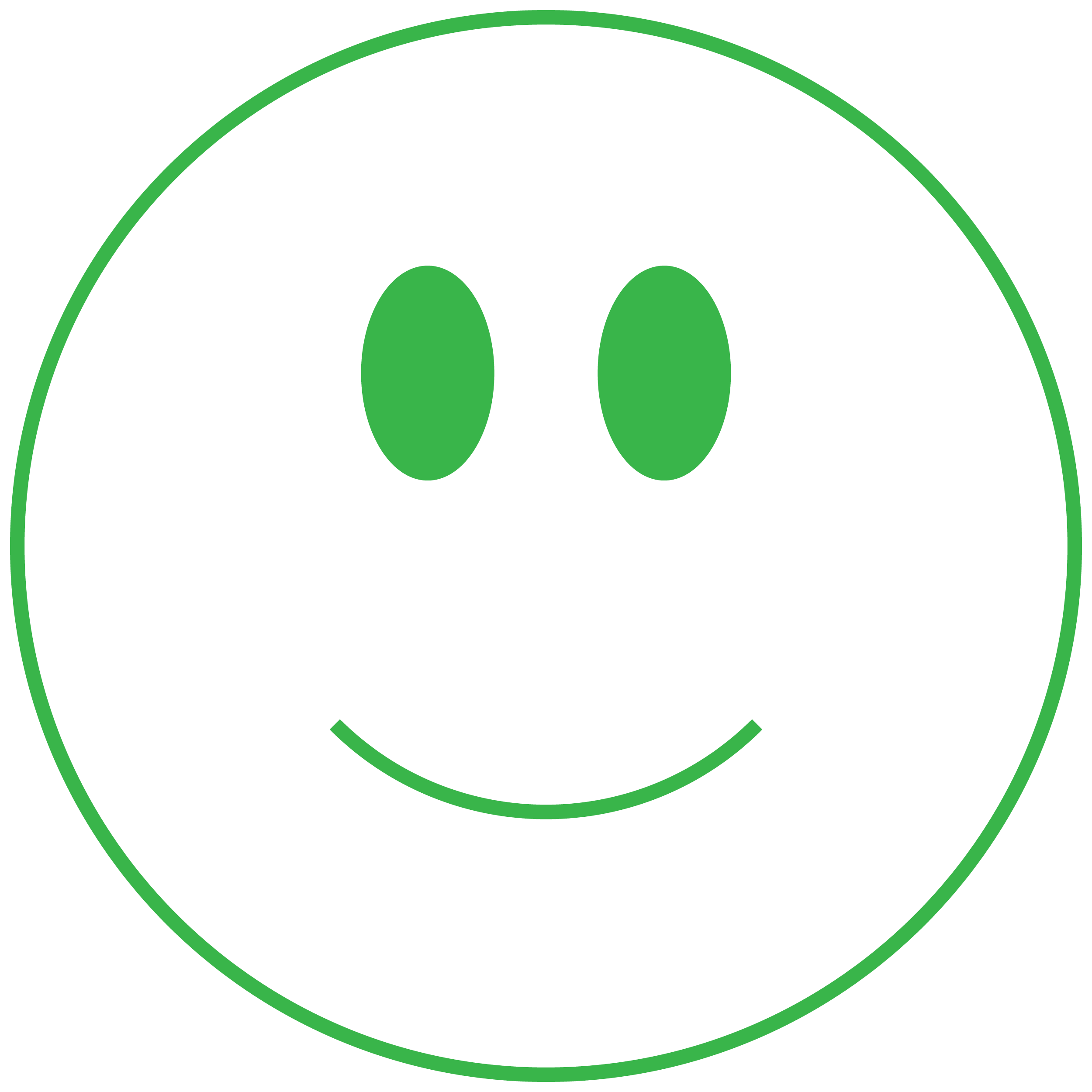 Green smiley face graphic